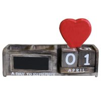 Calender heart day to remember