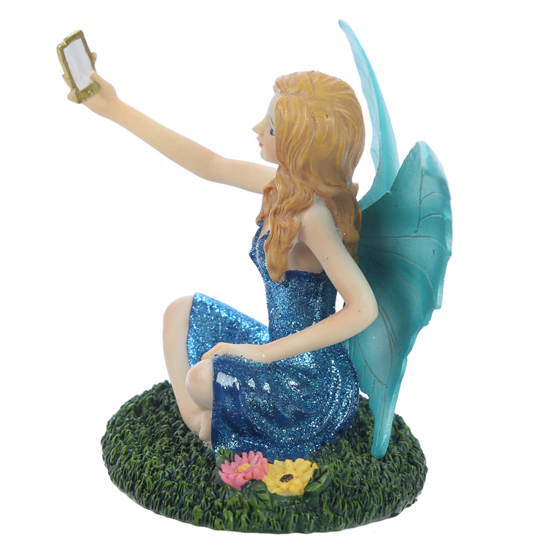 Decorative Selfie Time Collectable Fairy Figurine Gift